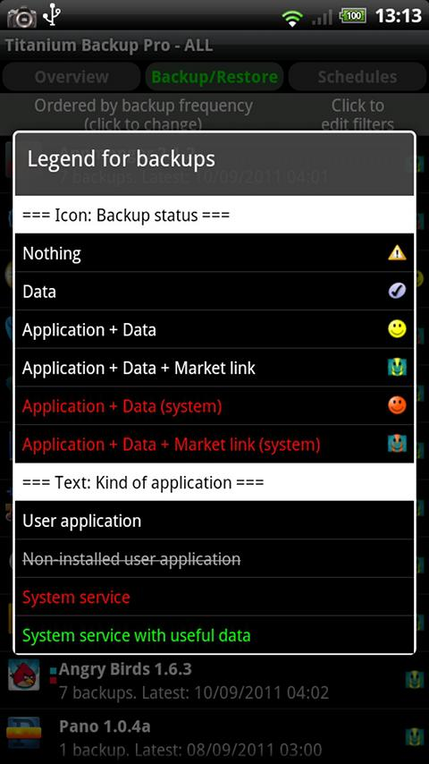 titanium backup and restore app for android screenshot 3