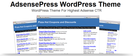 AdsensePress - Highest CTR WordPress Adsense Theme