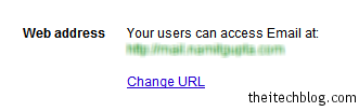 Google Apps Change URL