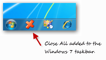 close all adding to windows 7 taskbar
