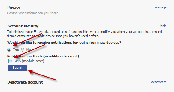 facaebook-security-settings