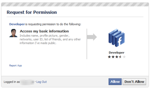 facebook developer Permission