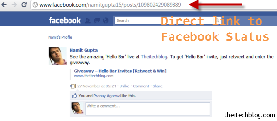 how to make direct link to facebook page