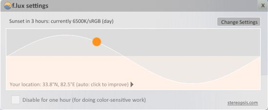 flux - adjust monitor brightness to suit your eyes