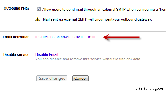 Google Apps email instructions