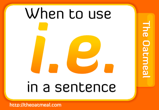 when to use i.e. in sentence
