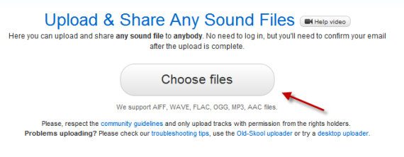 soundcloud upload files
