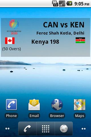 world cup 2011 android widget